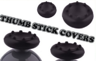 CONTROLLER THUMB STICK COVERS BLACK